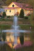 Photo: Yoga Farm, Grass Valley, CA - Pond, Fountain and Yoga hall
