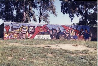 Photo: Murales al Boschetto Primo Maggio. Anni '80 del secolo scorso.