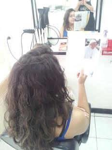 imagem de cabelo com frizz