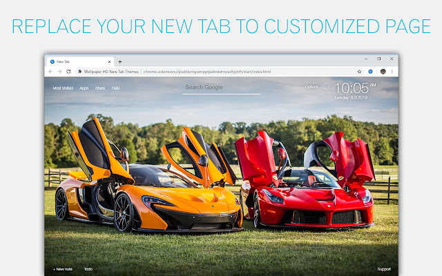Sports Cars Super Cars Custom New Tab