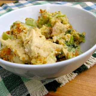 Skinny Chicken Broccoli Casserole (Chicken Divan).