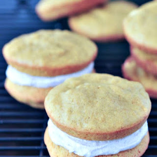 Pumpkin Whoopie Pies with Ginger Cream