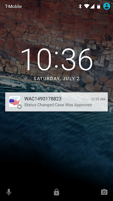 USCIS Case Status - screenshot