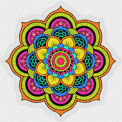 Adult Glitter Mandala Color By Number Sandbox Page Google Play