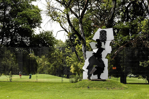 A smaller version of William Kentridge and Gerhard Marx's 'Fire Walker' is one of the sculptures that'll be going under the hammer.