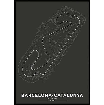 Poster, Circuit de Barcelona Formula 1 Print