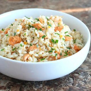 Salmon Risotto with Preserved Lemon.