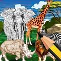 Animal Coloring Kingdom AR icon