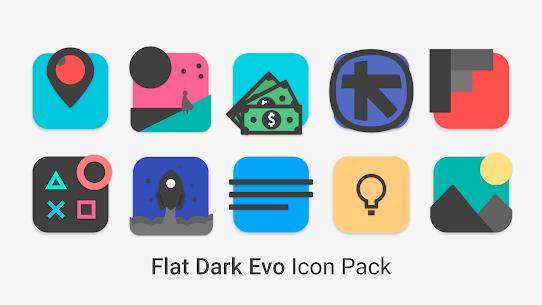 Flat Dark Evo – Icon Pack 4