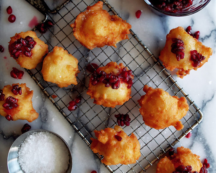 Manchego Cheese Fritters with Pomegranate Beer Jam Recipe