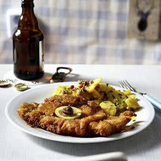 Weiner Schnitzel with Bacon-Potato Salad.