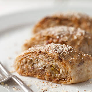 Baklava Rolls, with Pistachios, Walnuts and Almonds.
