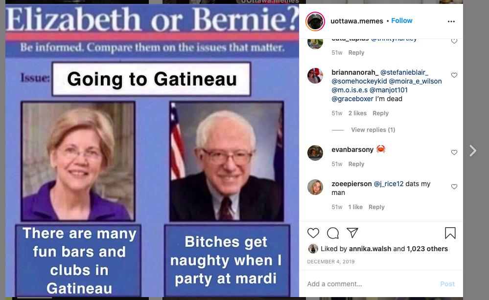 Elizabeth or Bernie meme