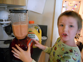 """Photo: """"looks good Mommy, can we drink it now"""""""