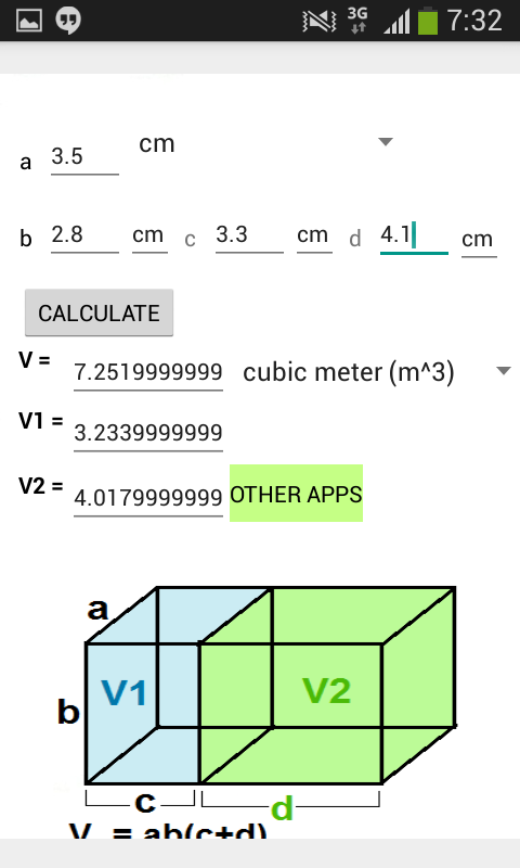 box volume calculator gallons 3