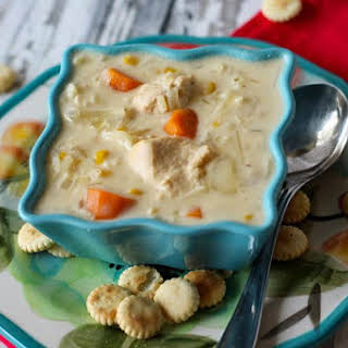Creamy Chicken Potato Soup in the Crock Pot.
