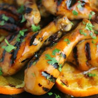 Orange Glazed BBQ Chicken Drumsticks