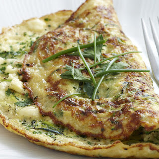 Herb, Zucchini and Feta Omelette.
