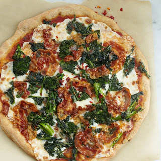 Whole-Grain Pizza Crust with Broccoli Rabe and Pancetta