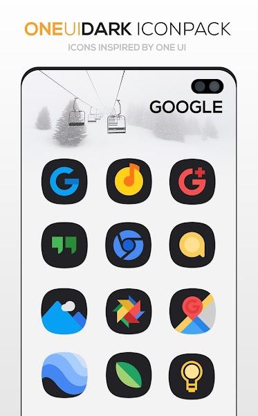 ONE UI DARK Icon Pack : S10 Screenshot Image