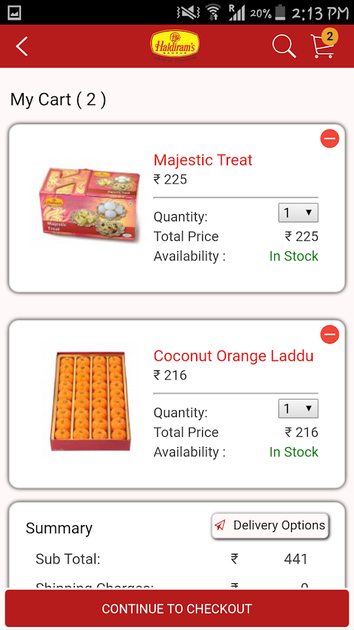 Haldirams-Nagpur- screenshot