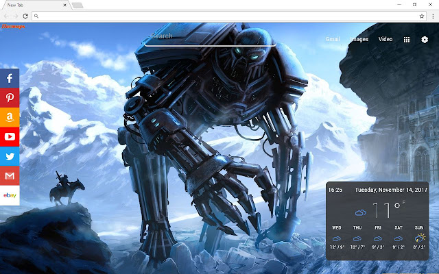 Robots Backgrounds & New Tab