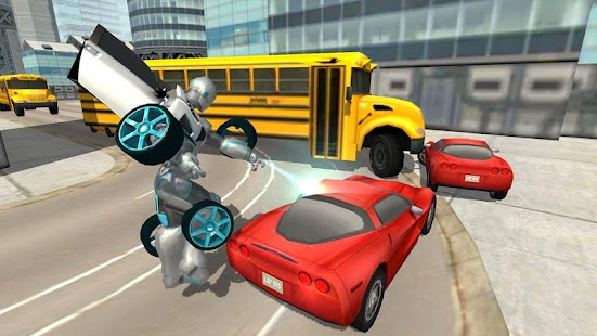 Flying Car Robot Flight Drive Simulator Game 2017- screenshot thumbnail