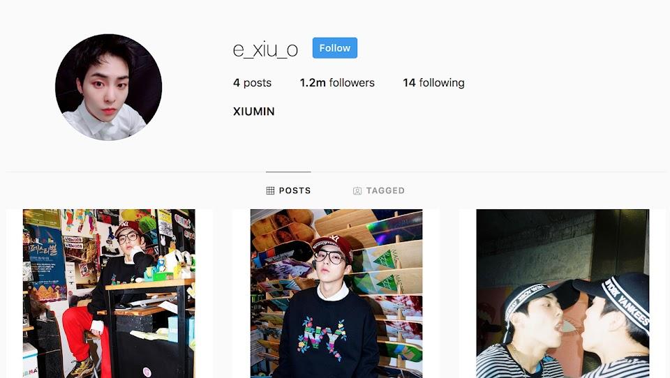 exo xiumin instagram