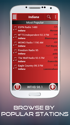 android A2Z Indiana FM Radio Screenshot 1