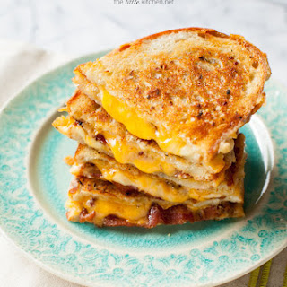 Swiss & Cheddar Grilled Cheese Sandwiches.