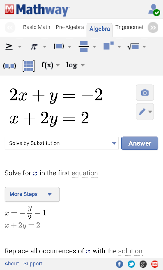 Math Solver with Steps