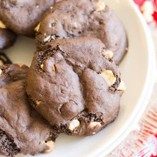 Gooey Double Chocolate Cookies.