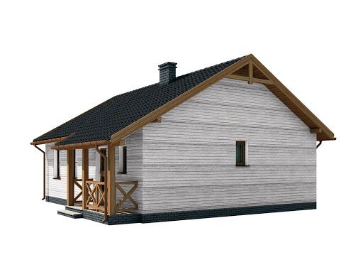 projekt La Palma 2 szkielet drewniany dom letniskowy