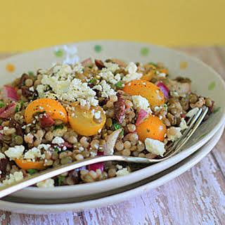 Israeli Couscous & Green Lentil Salad.