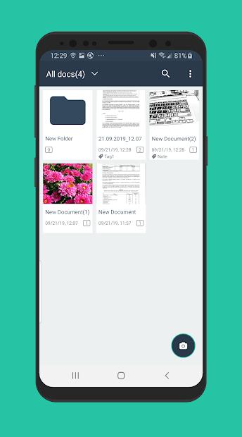 Simple Scan - Free PDF Scanner App Android App Screenshot
