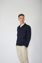 Photo: Navy wool chore coat