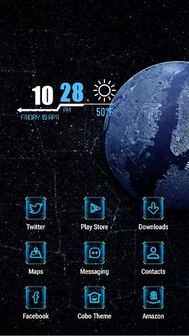 android Black dark landscape theme Screenshot 1