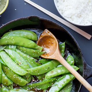 Garlic Sesame Snow Peas.