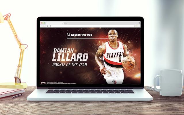Damian Lillard New Tab NBA Theme