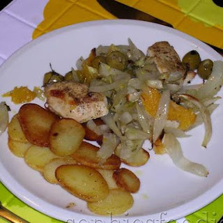 Sophie's Orange, Fennel & Chicken Roasted Oven Dish With Olives & Pastis