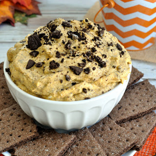Oreo White Chocolate Pumpkin Dip