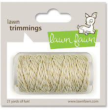 Lawn Fawn Trimmings Hemp Cord 21yd - Gold Sparkle