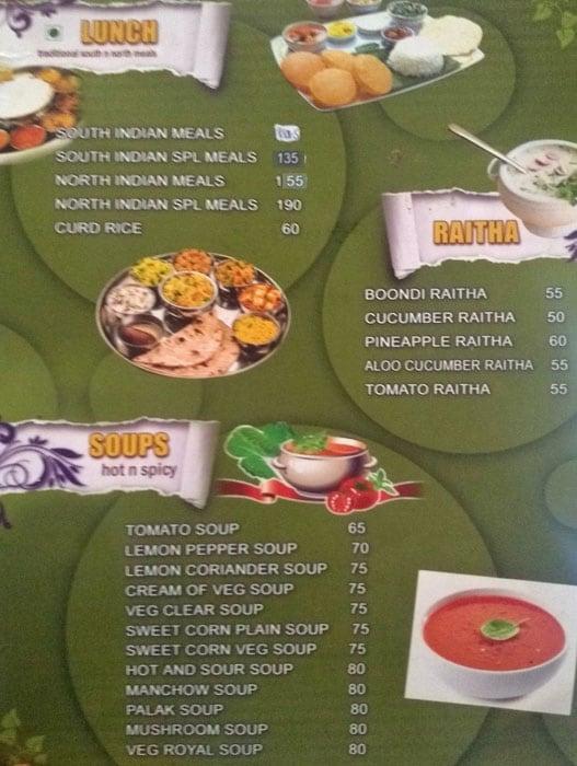 Hotel Chandrika menu 2