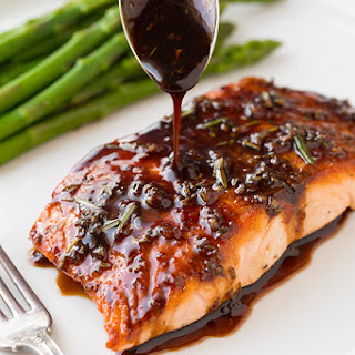 Balsamic Glazed Salmon.