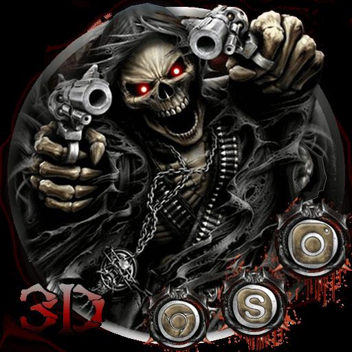 3D devil skull theme