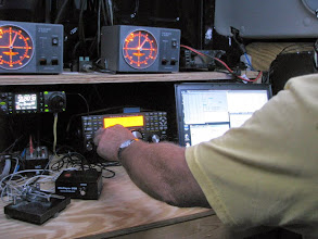 Photo: Terry W8ZN operating microwaves K8GP / Rover - FM08US