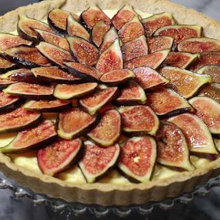 Fresh Fig Tart with Mascarpone and Marsala Filling.