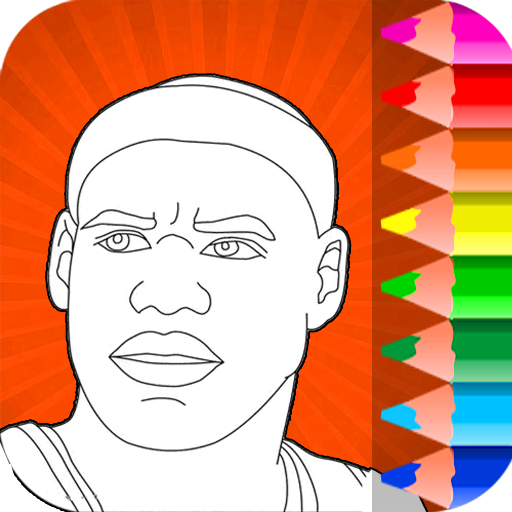 NBA Basketball Coloring Pages Game