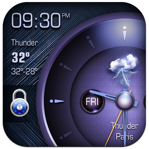 Analog Clock on Lockscreen app (apk) free download for Android/PC/Windows