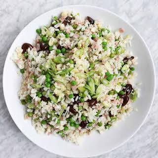 Italian Rice Salad with Soppressata and Caciocavallo.